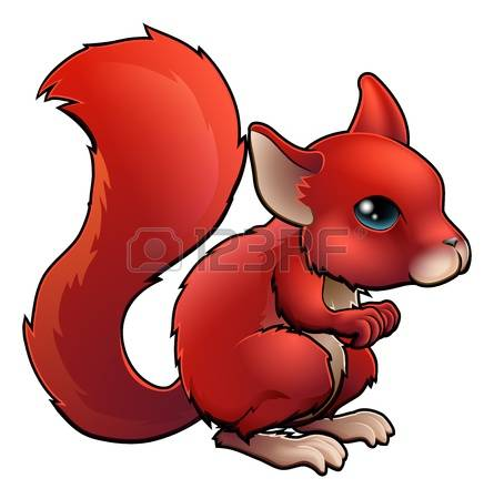 445x450 Red Squirrel Clipart