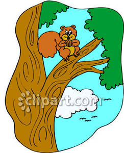 243x300 Tree Clipart Squirrel