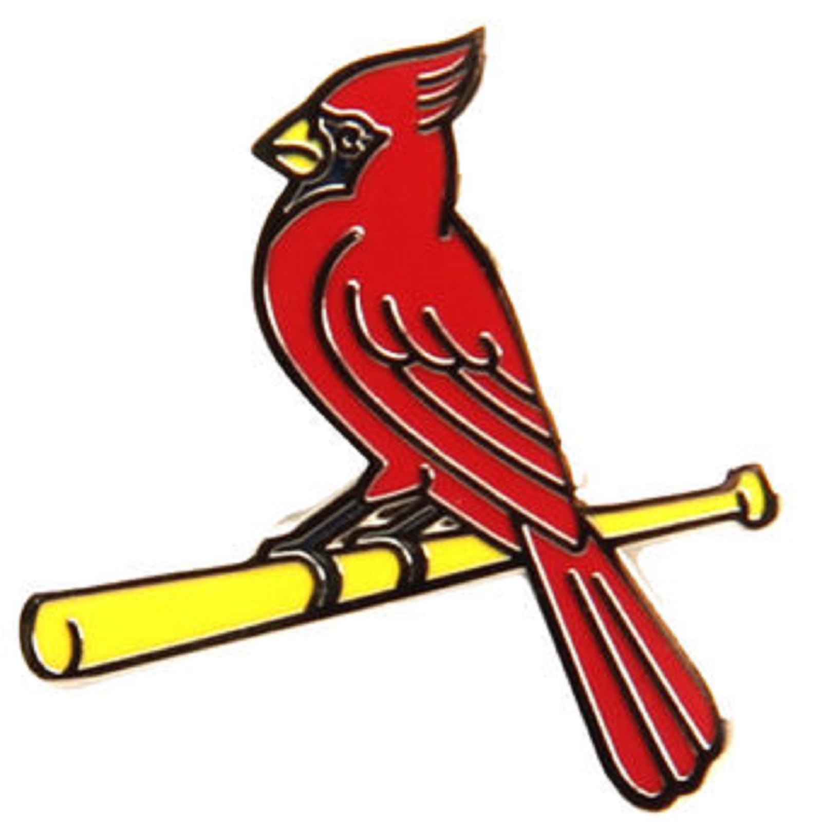 1600x1600 St. Louis Cardinals Bird On Bat Lapel Pin