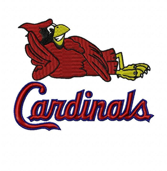 699x717 St. Louis Cardinals Fredbird Embroidery Design