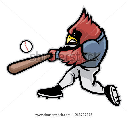 450x416 Cardinal Baseball Clipart