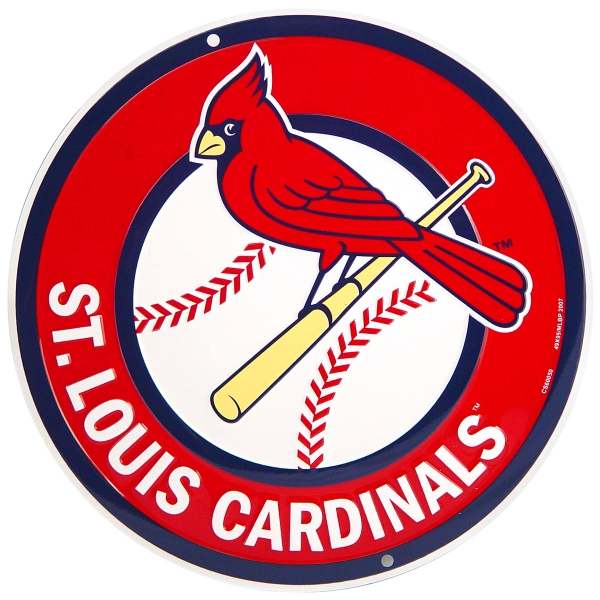 600x600 St. Louis Cardinals Baseball Logo Metal Sign Sports Team Decor