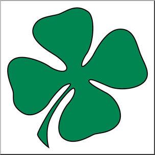 304x304 Clip Art Green Four Leaf Clover Shamrock St Patrick'Day