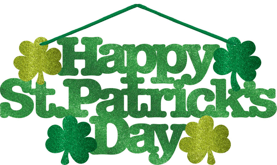 900x537 St. Patrick's Day Glitter Sign Parties 2 Order