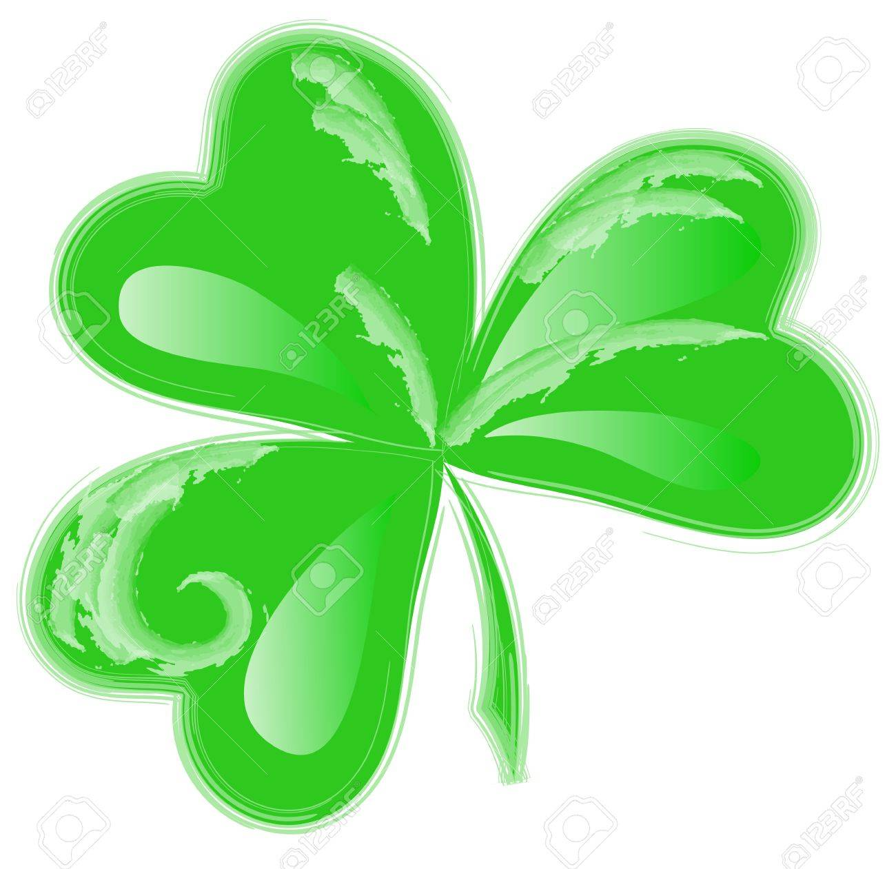 1300x1261 St Patrick Day Three Leaf Clover Stock Photo, Picture And Royalty