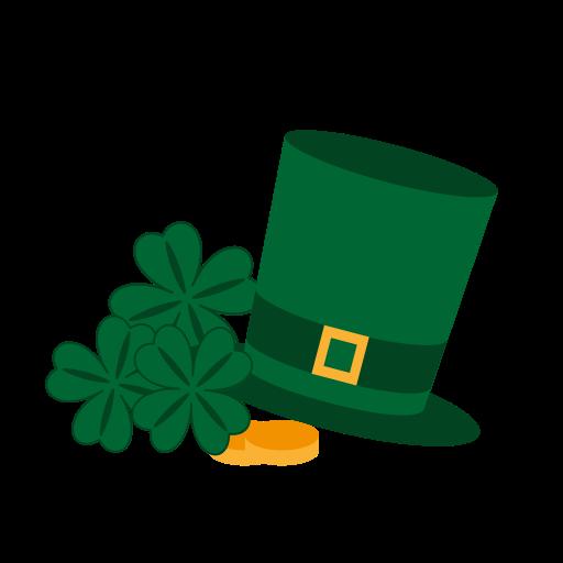 512x512 Gold, Happy, Hat, St, Saint, Patrick, Cllover Icon