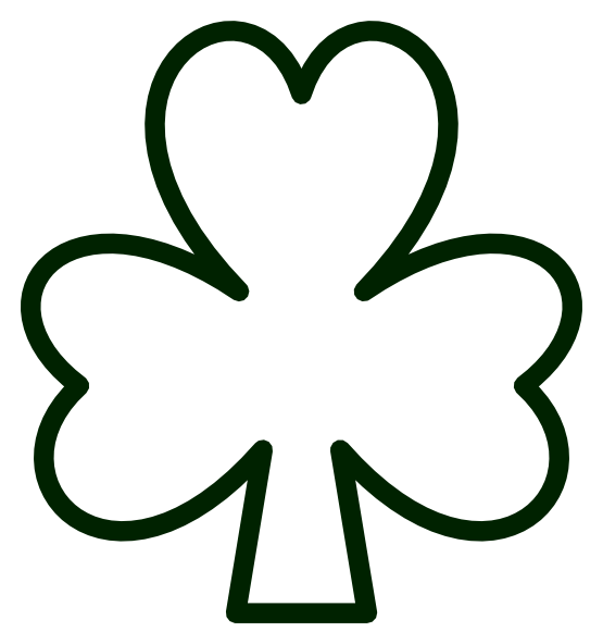 555x592 St Patricks Day Clip Art Black And White Photo And Images