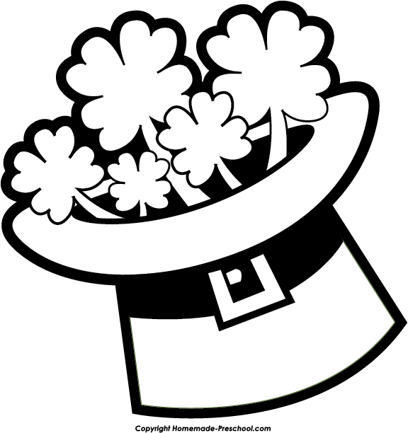576x612 St. Patrick's Day Clipart St Patrick's Day Clipart Black And White