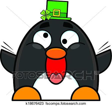 450x427 Clipart Of Happy St. Patrick's Day Penguin K18676423