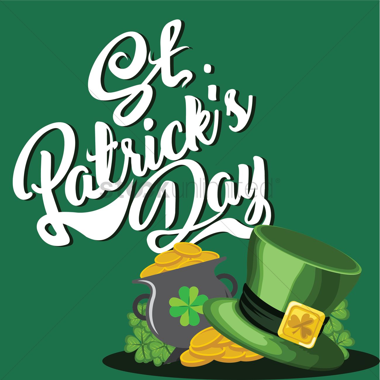 1300x1300 Happy St Patricks Day Vector Image