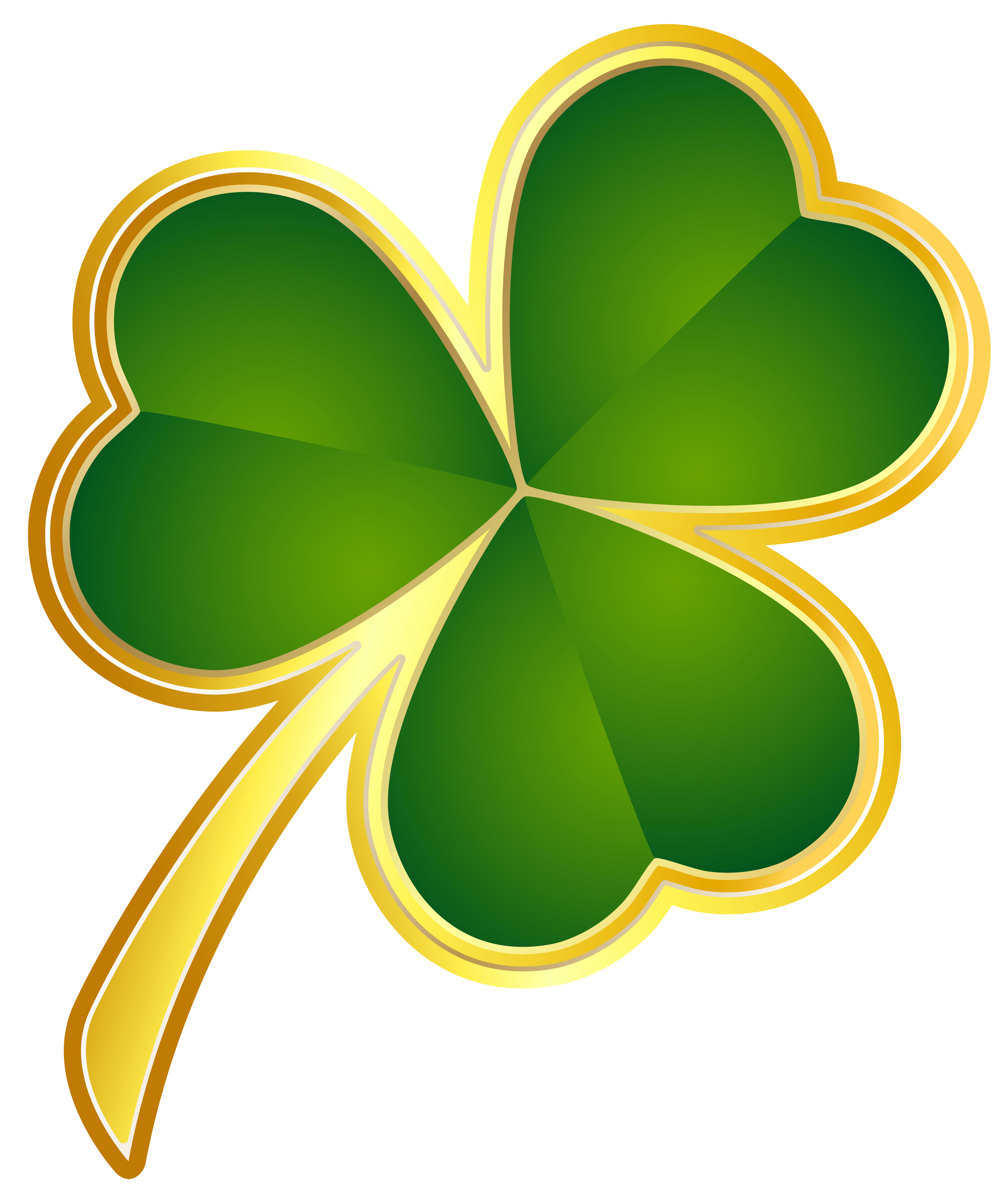 3876x4623 St Patricks Day Gold Shamrock Png Clipartu200b Gallery Yopriceville