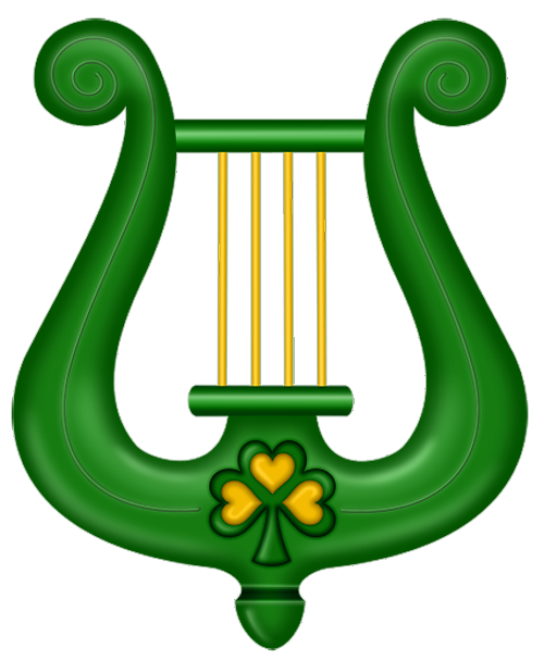 500x608 St Patricks Day Green Harp Clipart