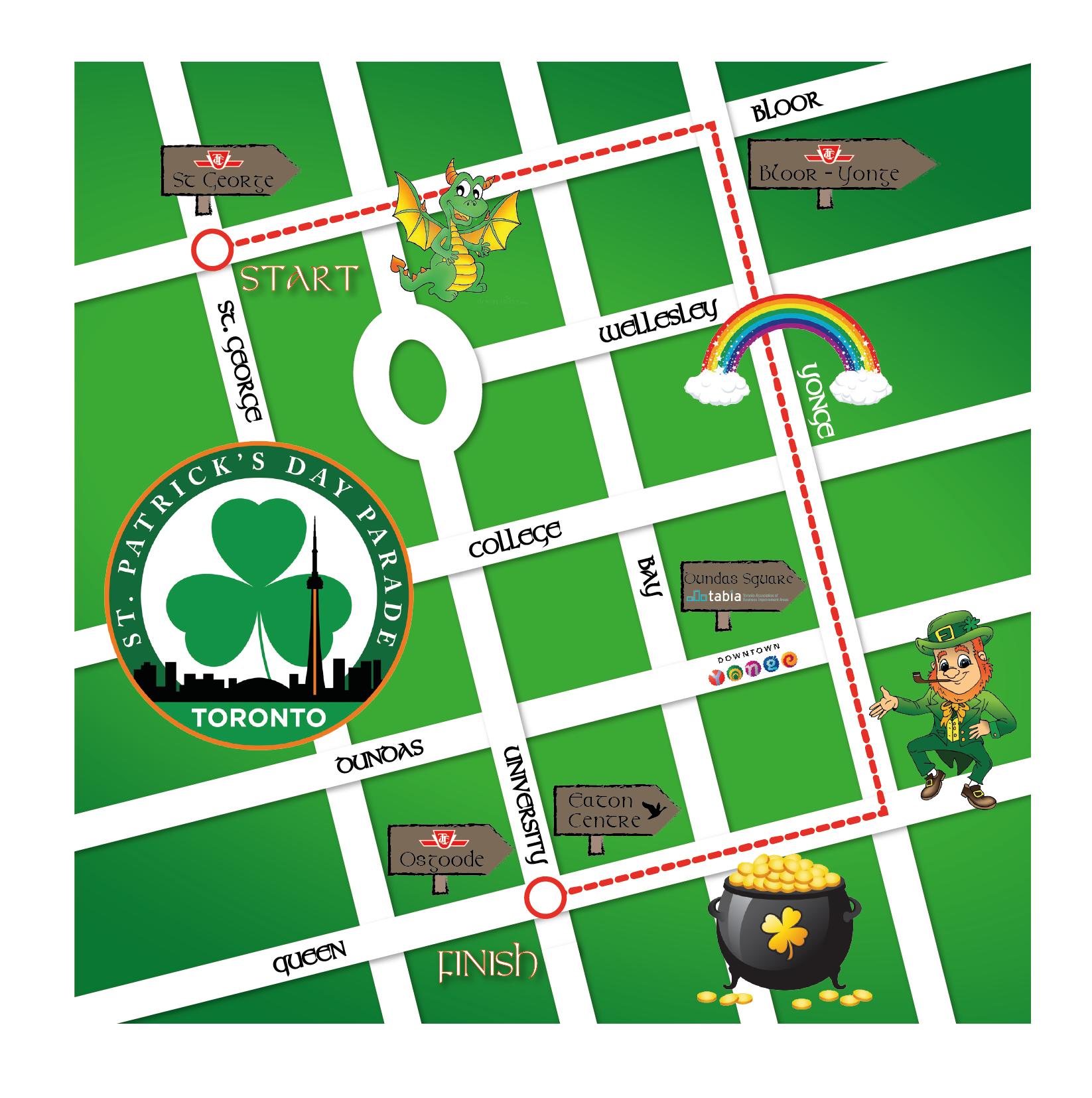 1646x1655 Parade Map St Patrick's Parade Toronto St Patrick's Parade Toronto