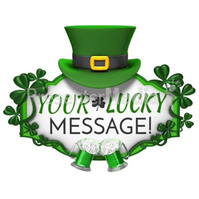 400x400 St Patricks Day Hat Sign Cheers