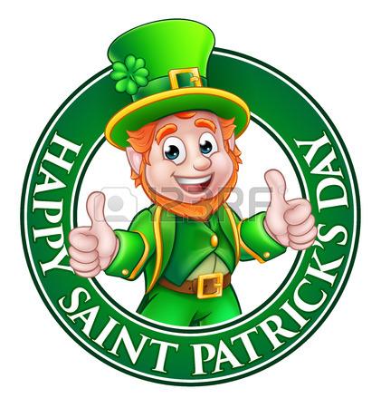 421x450 Cartoon Leprechaun St Patricks Day Character Giving A Thumbs