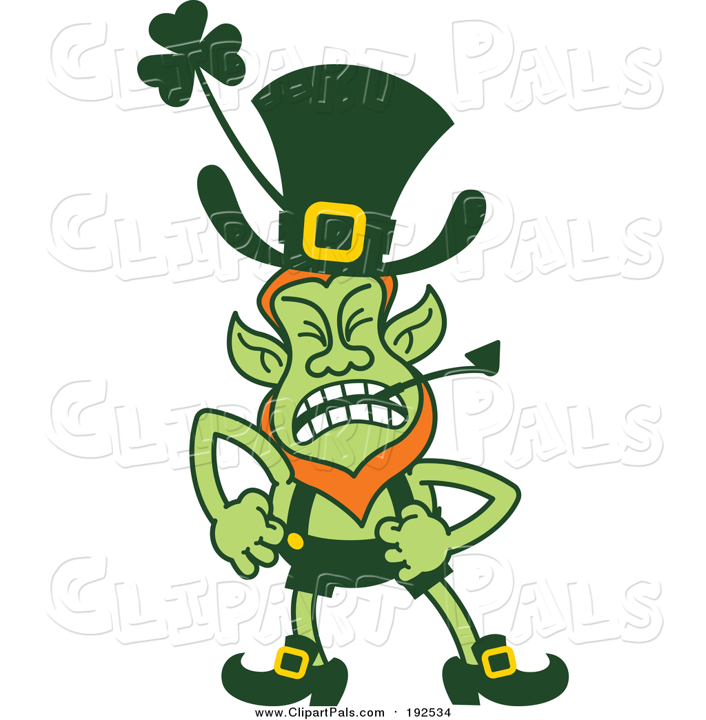 1024x1044 Pal Clipart Of A Angry St Patricks Day Leprechaun Shouting By