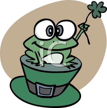 346x350 St Patrick's Day Frog Sitting On A Leprechaun Hat