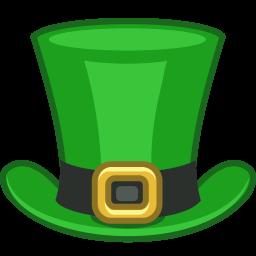256x256 Top Hat St Patrick Hat2 Clip Art Image