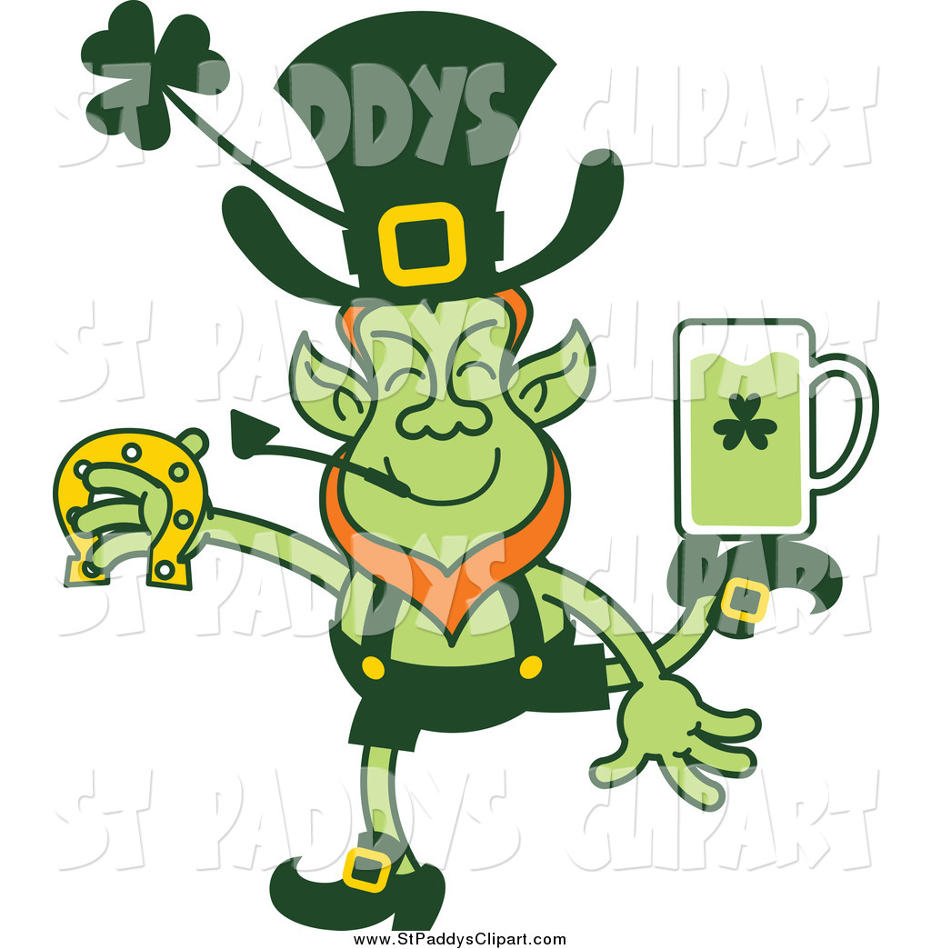 1024x1044 Vector Cliprt Of St Patricks Day Leprechaun Dancing