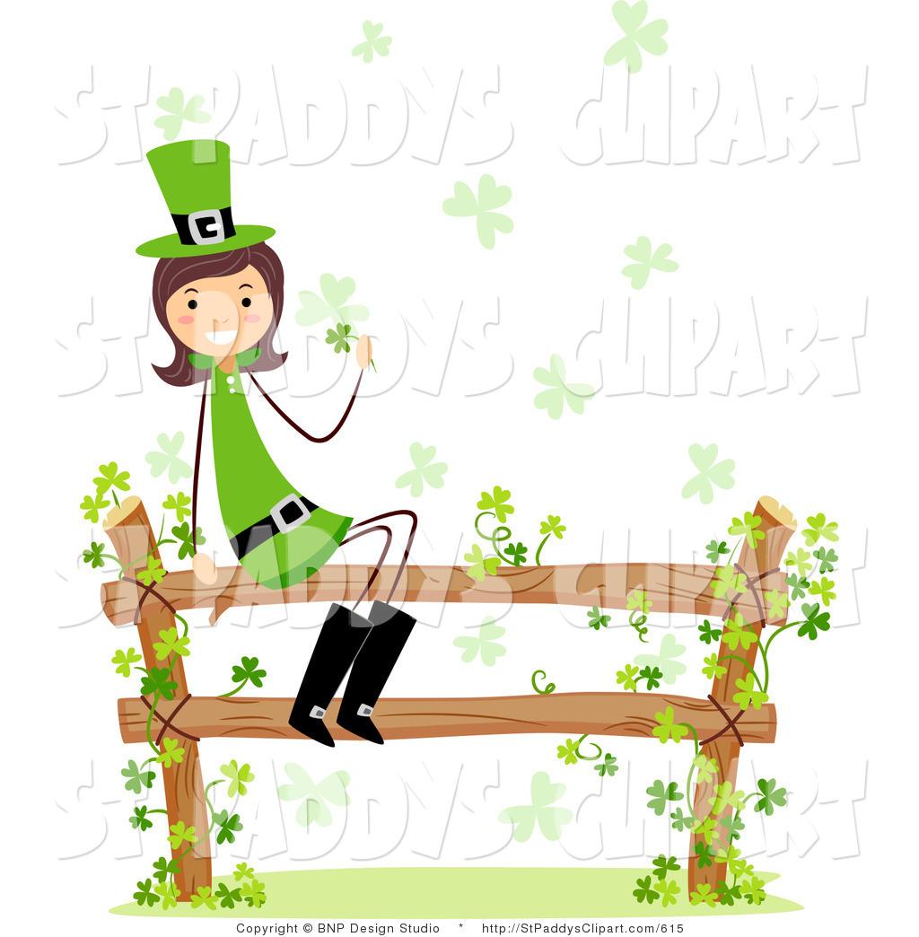1024x1044 Vector Cliprt Of St Patricks Day Leprechaun Girl Sitting On