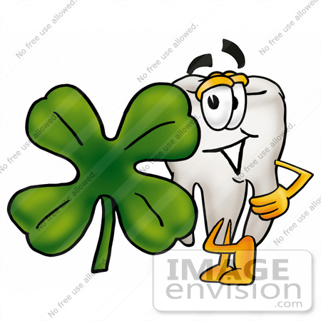 450x450 Clip Art Graphic Of A Human Molar Tooth Character With A Green