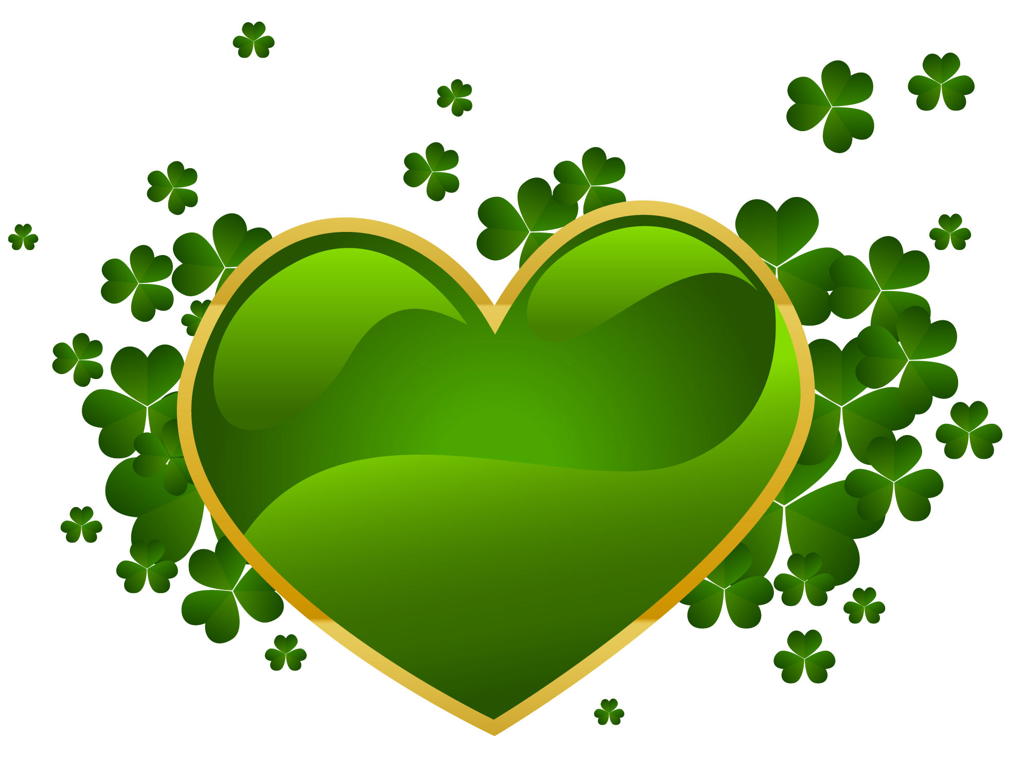 1990x1501 Public Domain Clip Art Shamrocks St Patricks Day Shamrock Clip Art