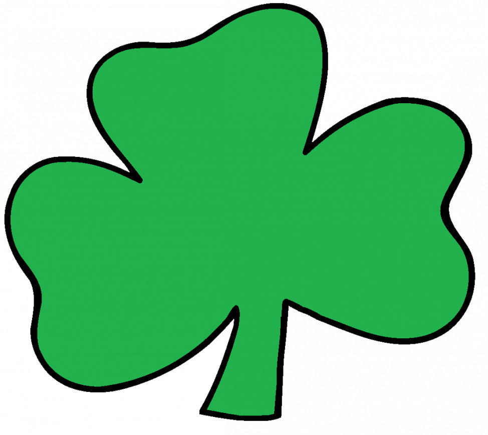974x868 Coloring Pages Shamrock Free Clip Art Clipart Holiday Stpatrick