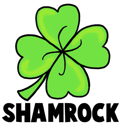 400x400 How To Draw A Four Leaf Clover Or Shamrocks For Saint Patricks Day