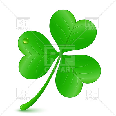 400x400 Three Leaf Clover, St. Patrick's Day Symbol Royalty Free Vector