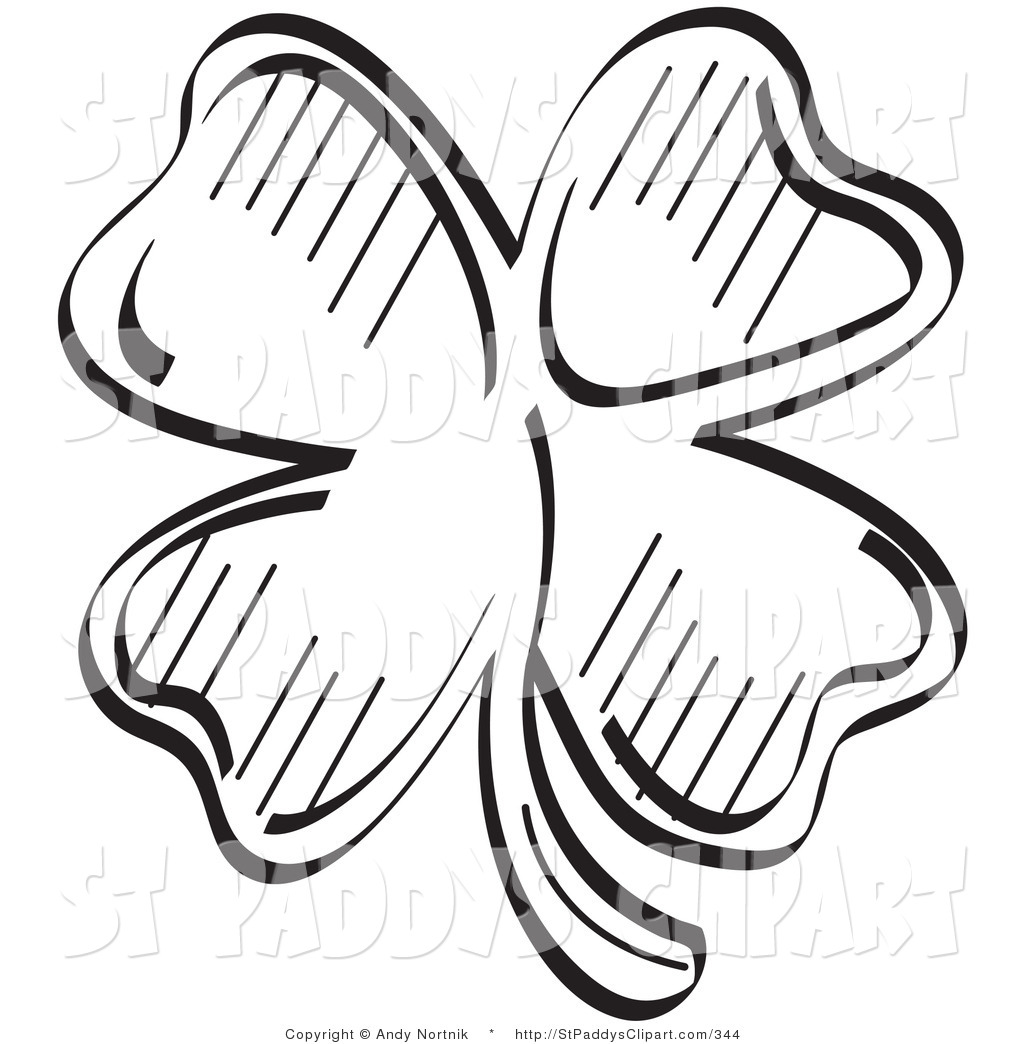 1024x1044 Vector Clip Art Of A St Patricks Day Lucky Black And White