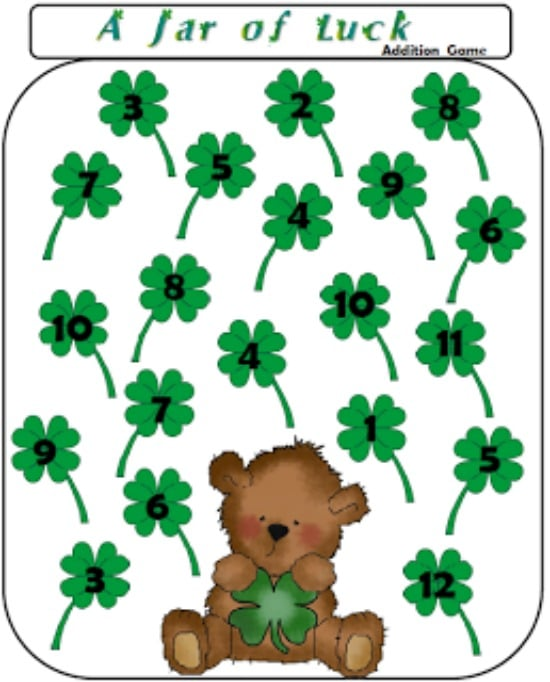 550x682 33 St. Patrick's Day Math Ideas And Ela Activities
