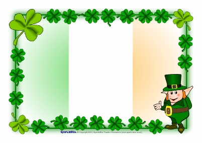 402x284 St Patrick's Day A4 Page Borders (Sb2002) Sparklebox
