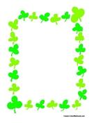 135x175 St. Patrick's Theme Border Writing Paper
