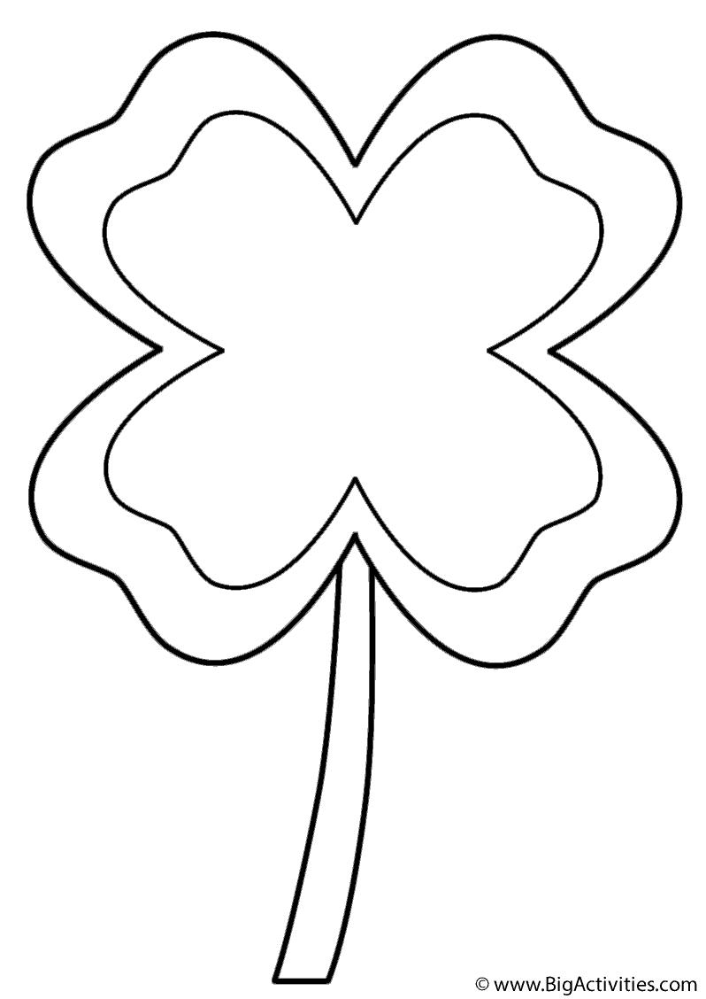 798x1128 Four Leaf Clover With Border
