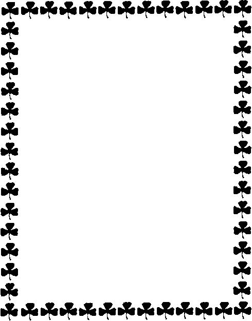 490x625 Free St Patricks Day Frames Clipart