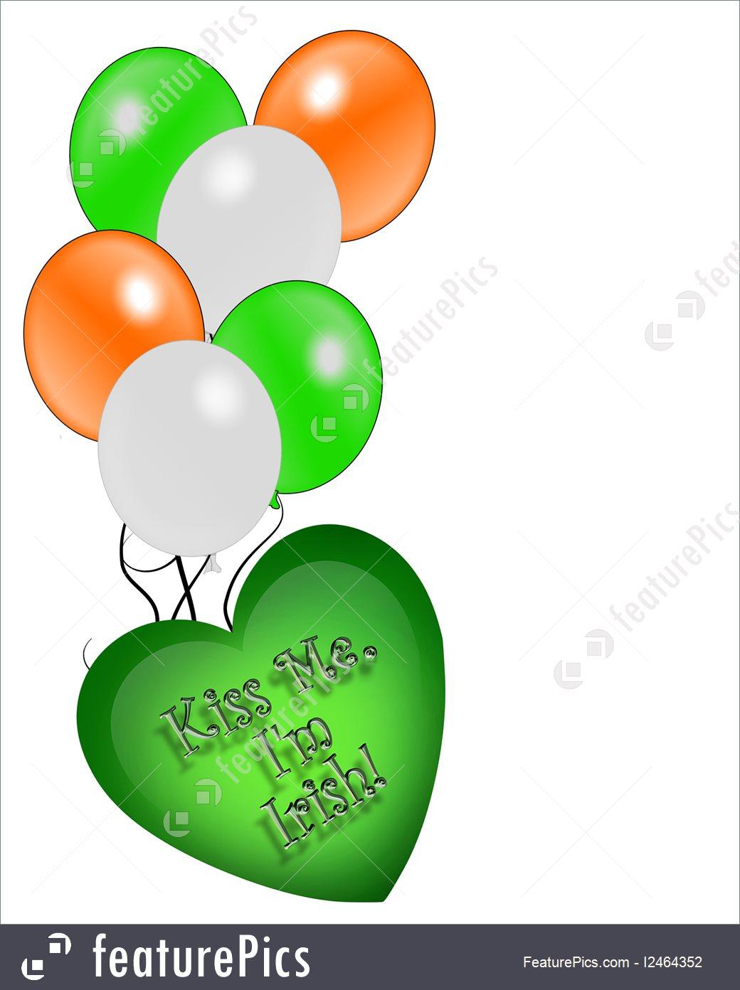 1040x1392 Holidays St Patrick's Day Card Irish Balloons