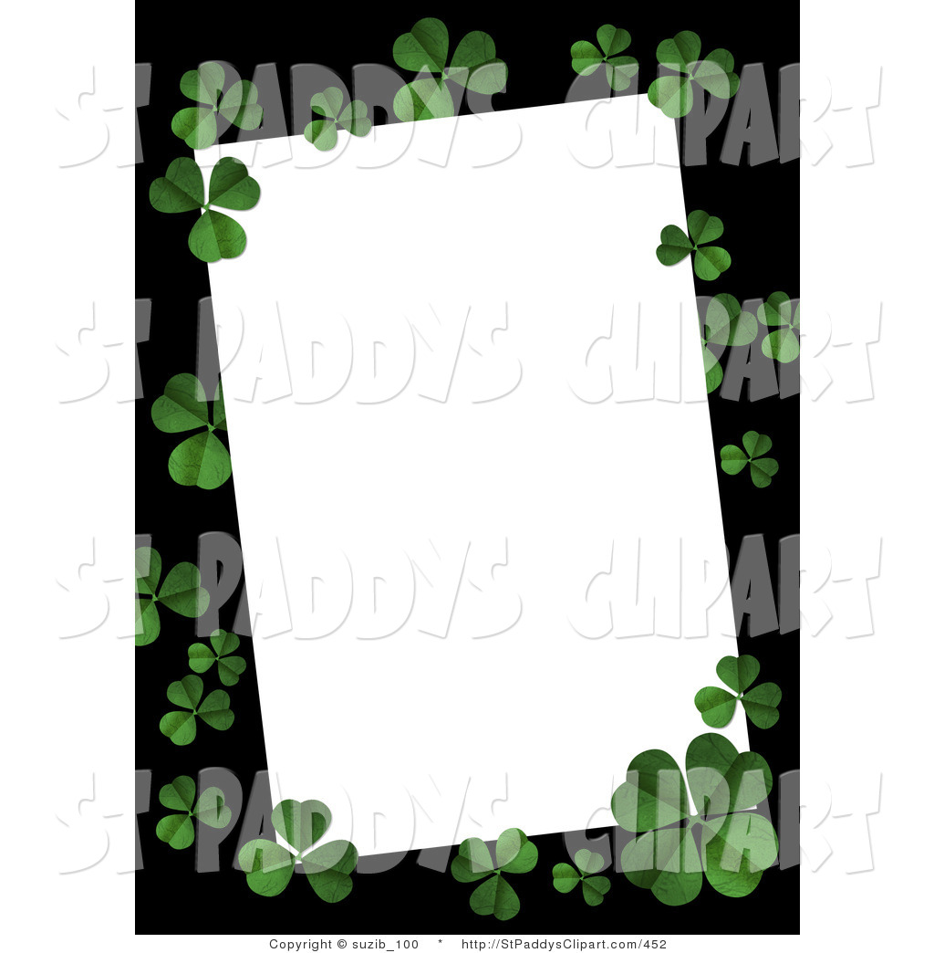 1024x1044 Clip Art Of A St Patricks Day Textured Green Four Leaf Shamrocks
