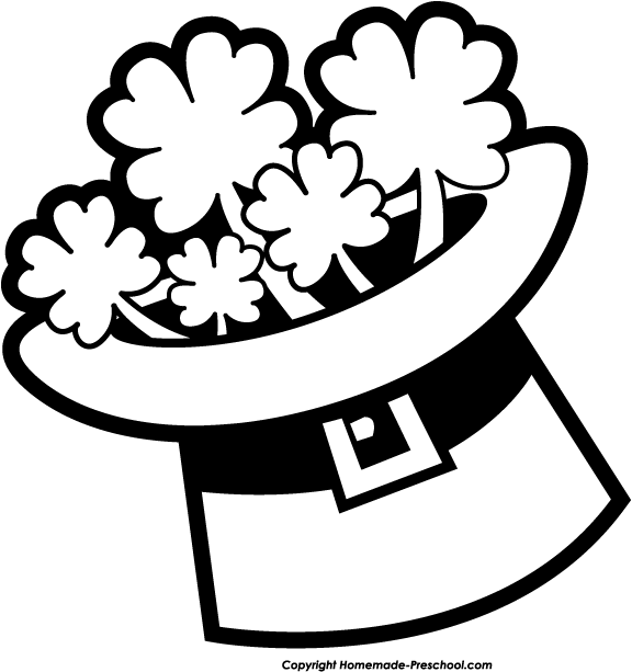 St Patricks Day Clipart Black And White Free Download