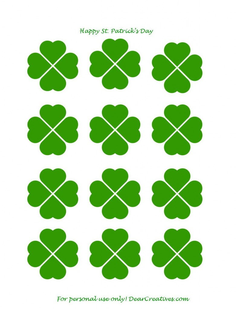 781x1024 Free Printables St. Patrick's Day Cupcake Toppers