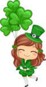 150x281 Girl Clipart St Patrick's Day