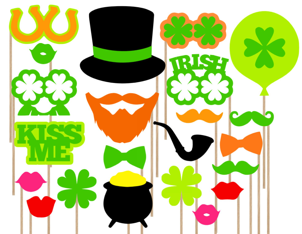 981x761 Sale St. Patrick's Day Photo Booth Props Irish Photo