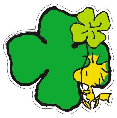 395x400 Peanuts St. Patrick's Day Paper Kids Cut Outs Eureka School