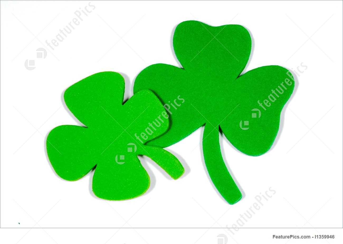 1300x923 Holidays St. Patrick's Day Note Decoration With Foam Shamrock