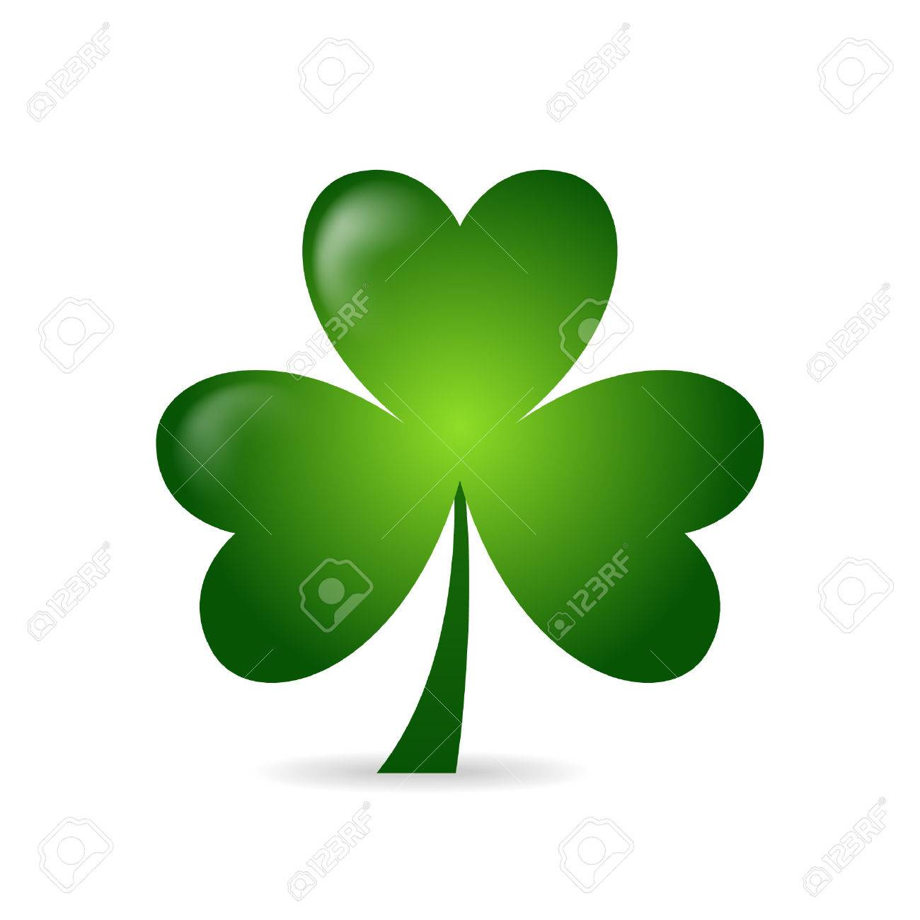 1300x1300 Irish Shamrock Ideal For St Patrick's Day Isolated Over White