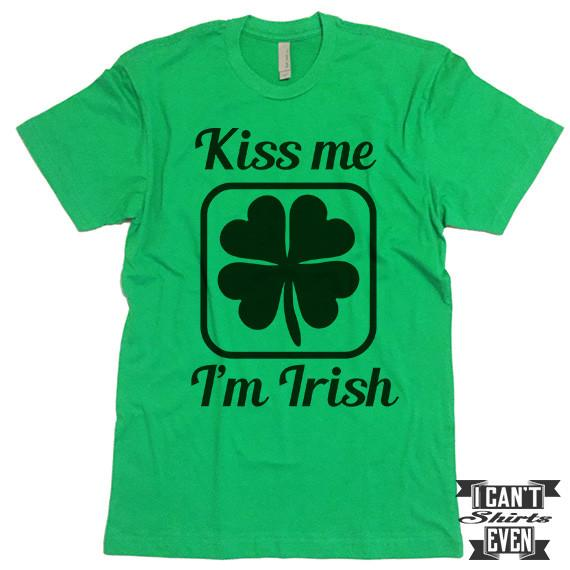 570x570 Kiss Me I'M Irish Shirt. St. Patrick's Day T Shirt. Shamrock