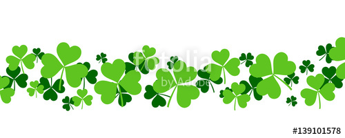 500x200 Shamrock Background