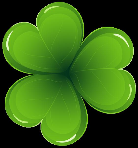 562x600 St Patricks Day Shamrock Clipart Image