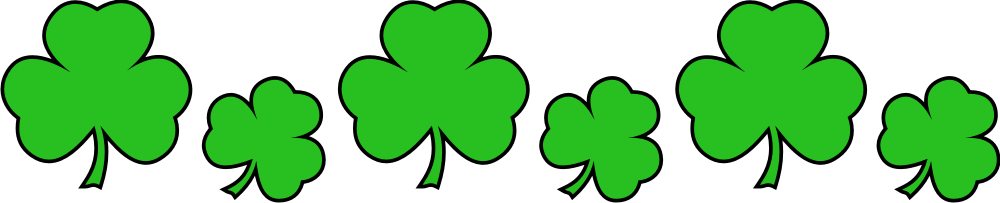 1000x203 Patricks Day Shamrock Clipart, Explore Pictures