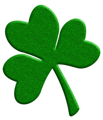 344x400 Public Domain Clip Art Shamrocks St Patricks Day Shamrock
