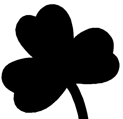 490x475 Shamrock Clipart Black And White
